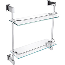 Glass shelf double