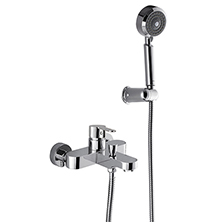 Single handle wall mounted bath & shower mixer