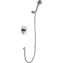 Single handle in wall dual shower mixer