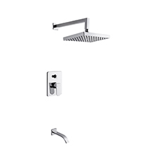 Single handle in wall bath & shower combination