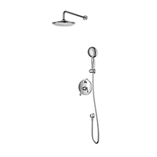 Single handle in wall shower combination